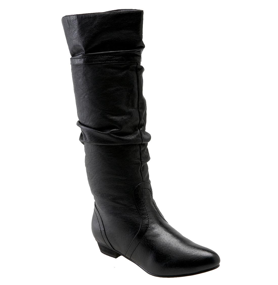 steve madden candence boot in black black leather lyst. Black Bedroom Furniture Sets. Home Design Ideas