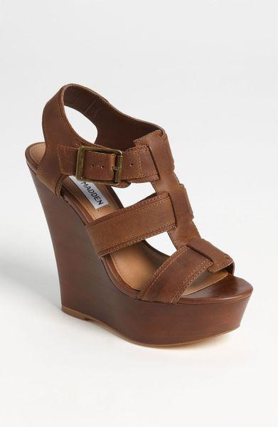 fdab3c14d98 Black Platform Sandals: Steve Madden Wedge