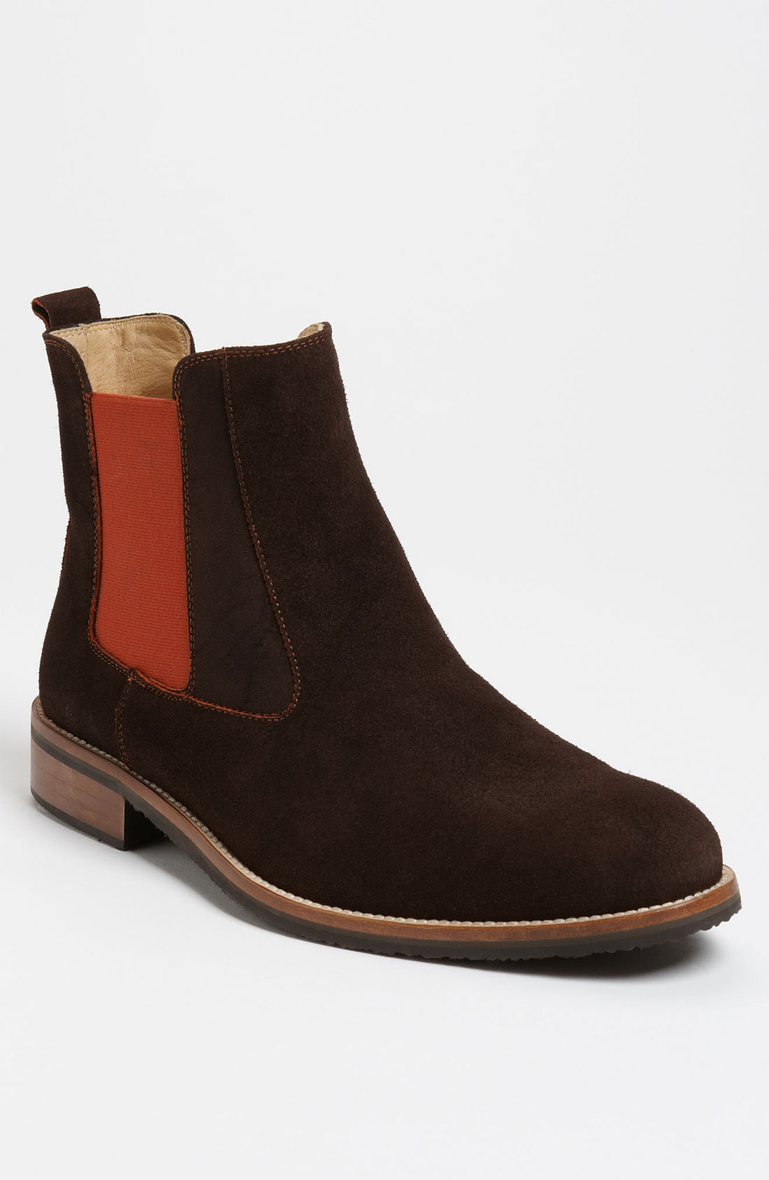 dean suede chelsea boot in brown for lyst