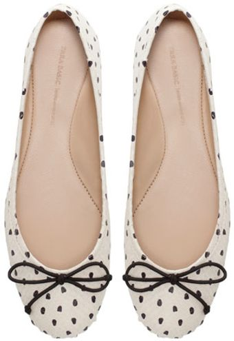 Zara Polka Dot Ballerina Shoes - Lyst