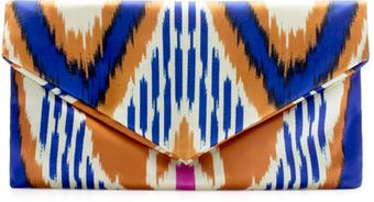 Zara Printed Fabric Clutch - Lyst