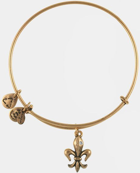 Alex and ani french royalty expandable wire bracelet in gold russian