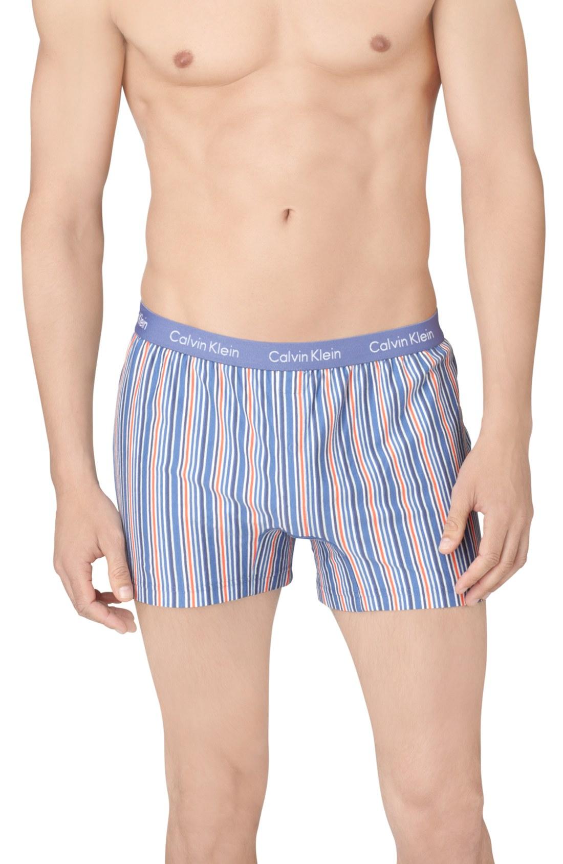 calvin klein slim fit boxer shorts in blue for men lake. Black Bedroom Furniture Sets. Home Design Ideas