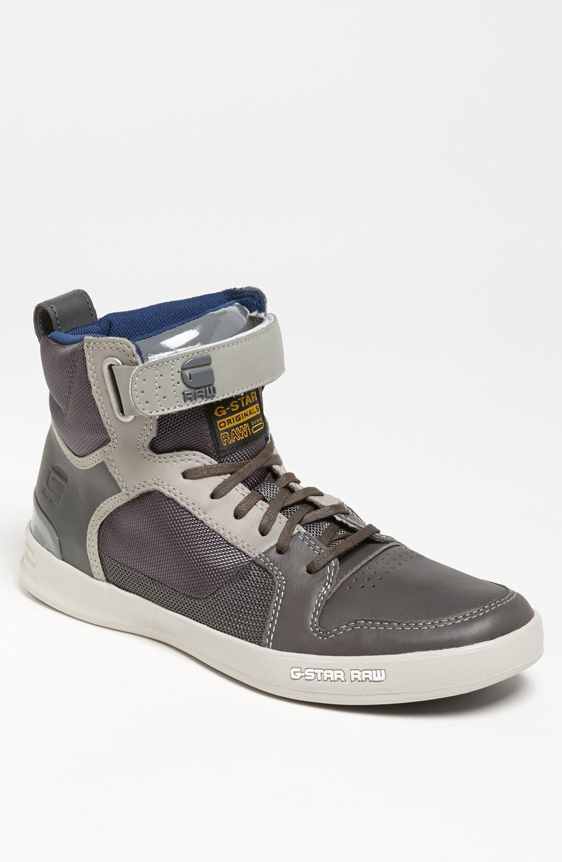 g star raw yard bullion sneaker men in gray for men dark grey light grey lyst. Black Bedroom Furniture Sets. Home Design Ideas