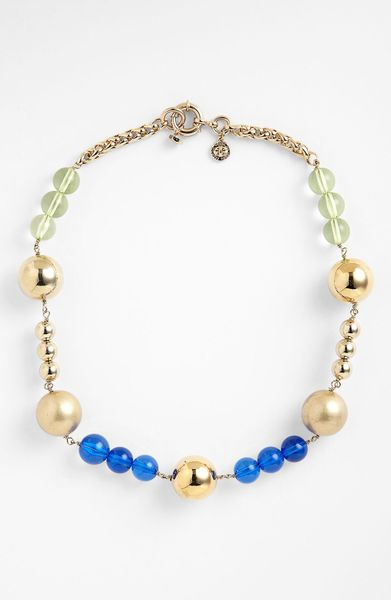 Marc By Marc Jacobs Ball Chains Bead Necklace In Gold