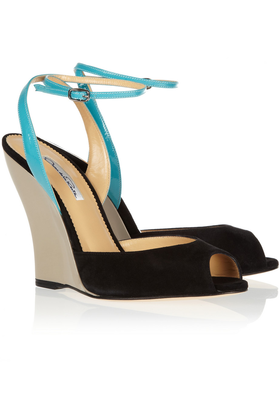 Black Patent Wedge Heels