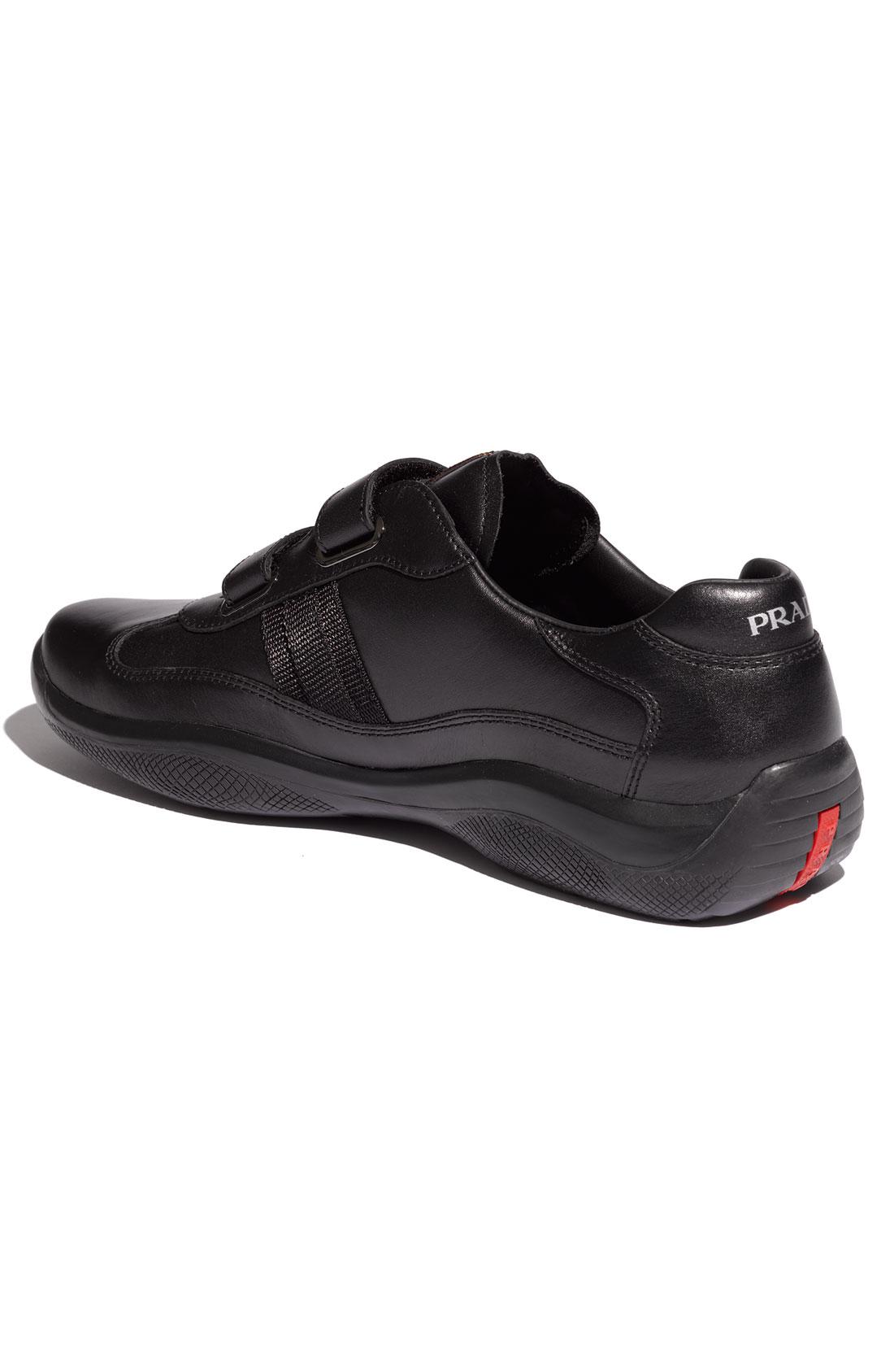 prada black saffiano lux tote - Prada Eagle Double Strap Sneaker Men in Black for Men | Lyst