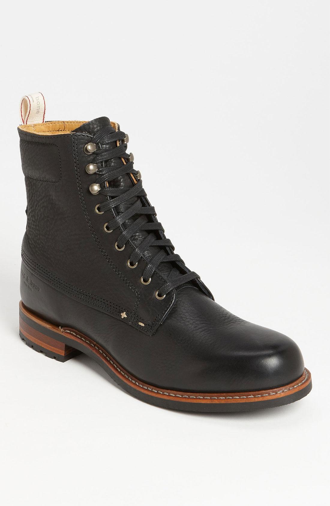 rag bone officer boot in black for lyst