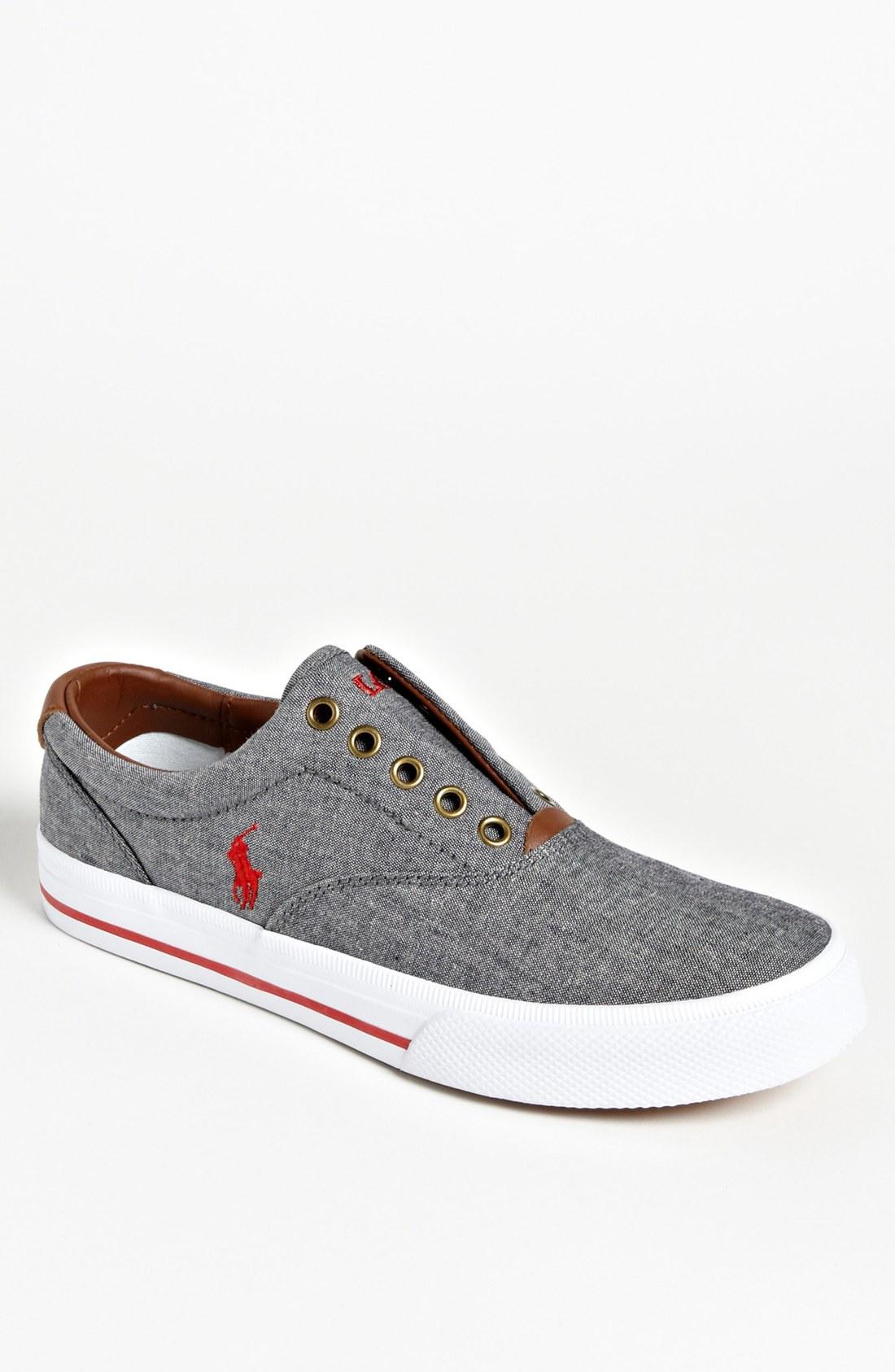 ralph lauren collection polo ralph lauren vito slipon sneaker in gray. Black Bedroom Furniture Sets. Home Design Ideas