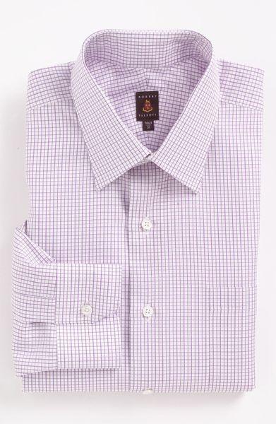 Robert talbott classic fit dress shirt in white for men for Robert talbott shirts sale