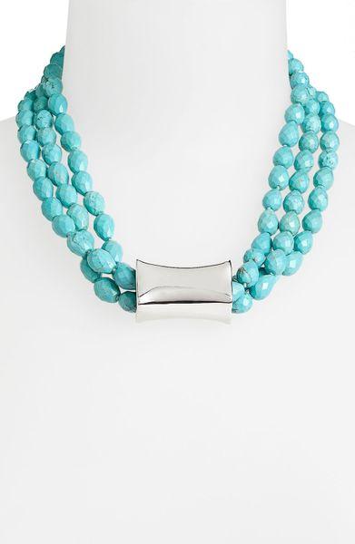 simon sebbag cielo multistrand bead necklace in silver