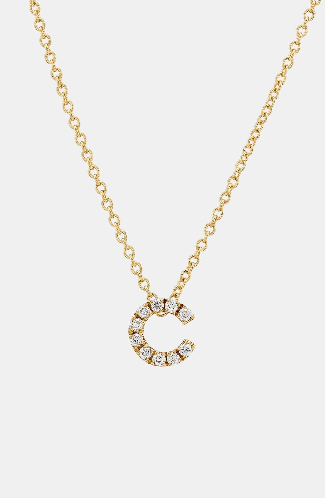Bony Levy Pav 233 Diamond Initial Pendant Necklace In Yellow