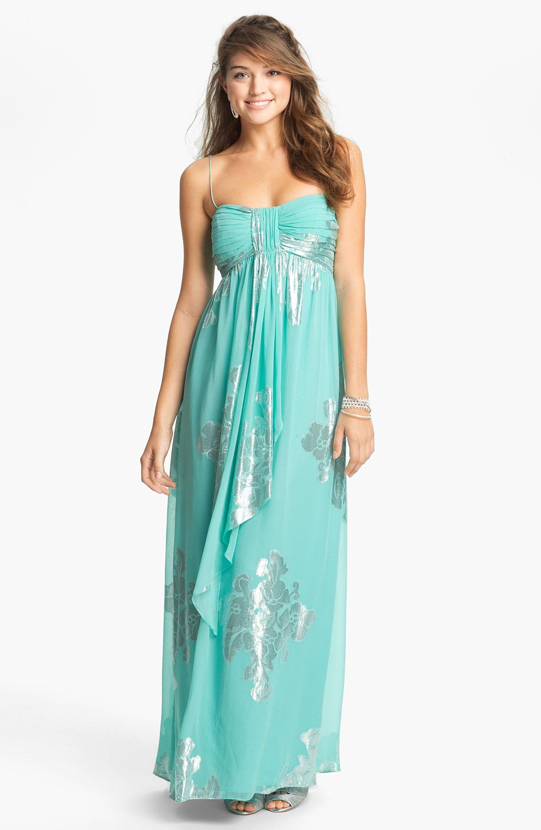 3460a577e6c Embellished Lace Detail Chiffon Maxi Dress