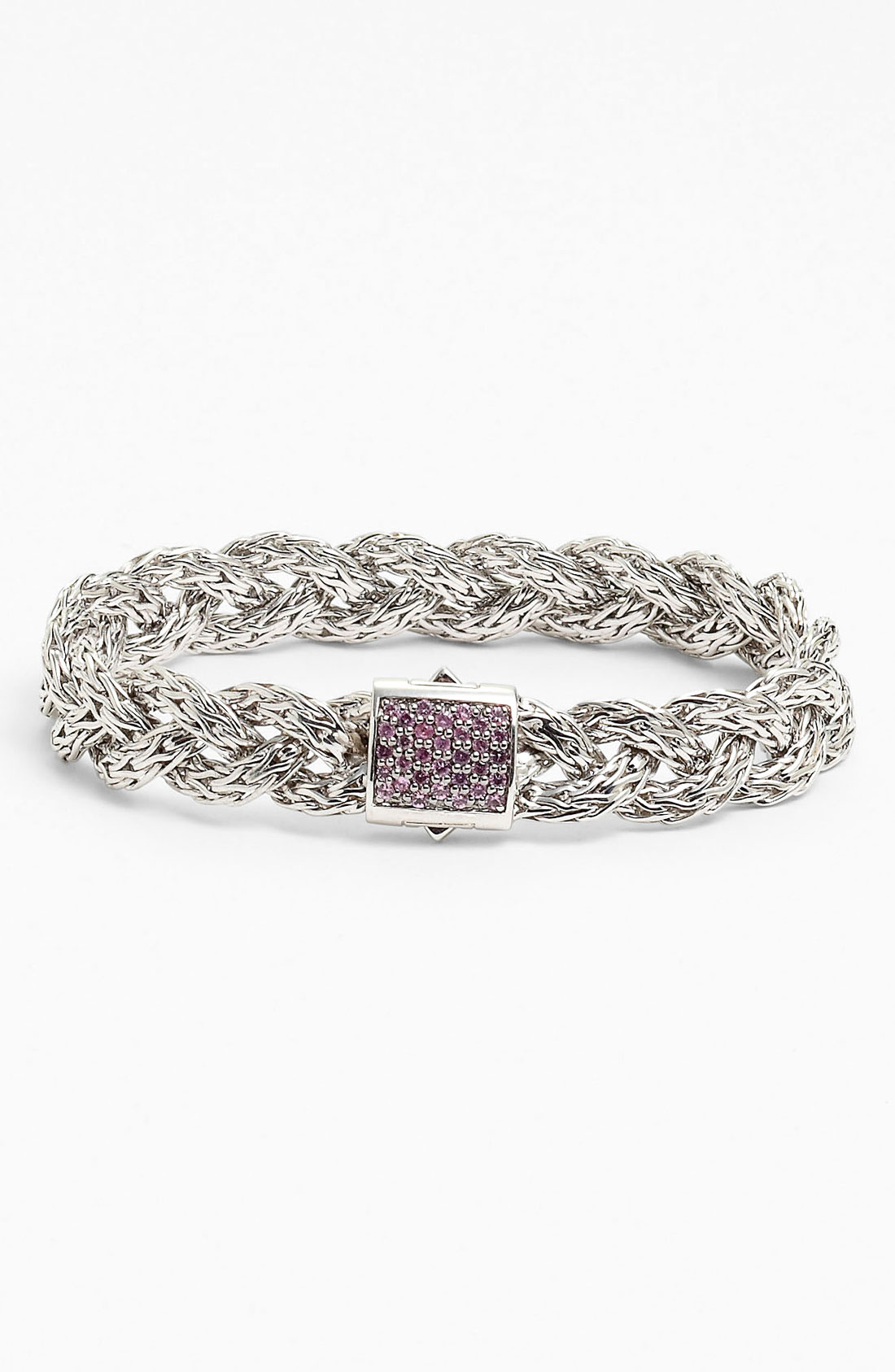 John Hardy Classic Chain Small Braided Bracelet In Silver