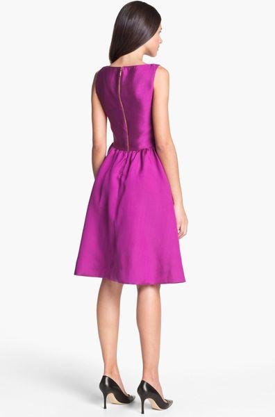 Kate Spade Landry Silk Blend Fit Flare Dress In Purple