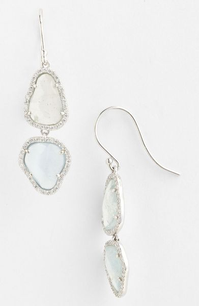 Nadri Drop Earrings Nordstrom Exclusive in Silver (silver milky aqua ...