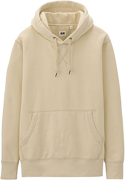 Uniqlo sweat pullover hoodie in beige for men natural lyst