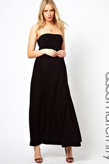 Black Maternity Dress on Asos Black Maternity Dress With Macrame Back