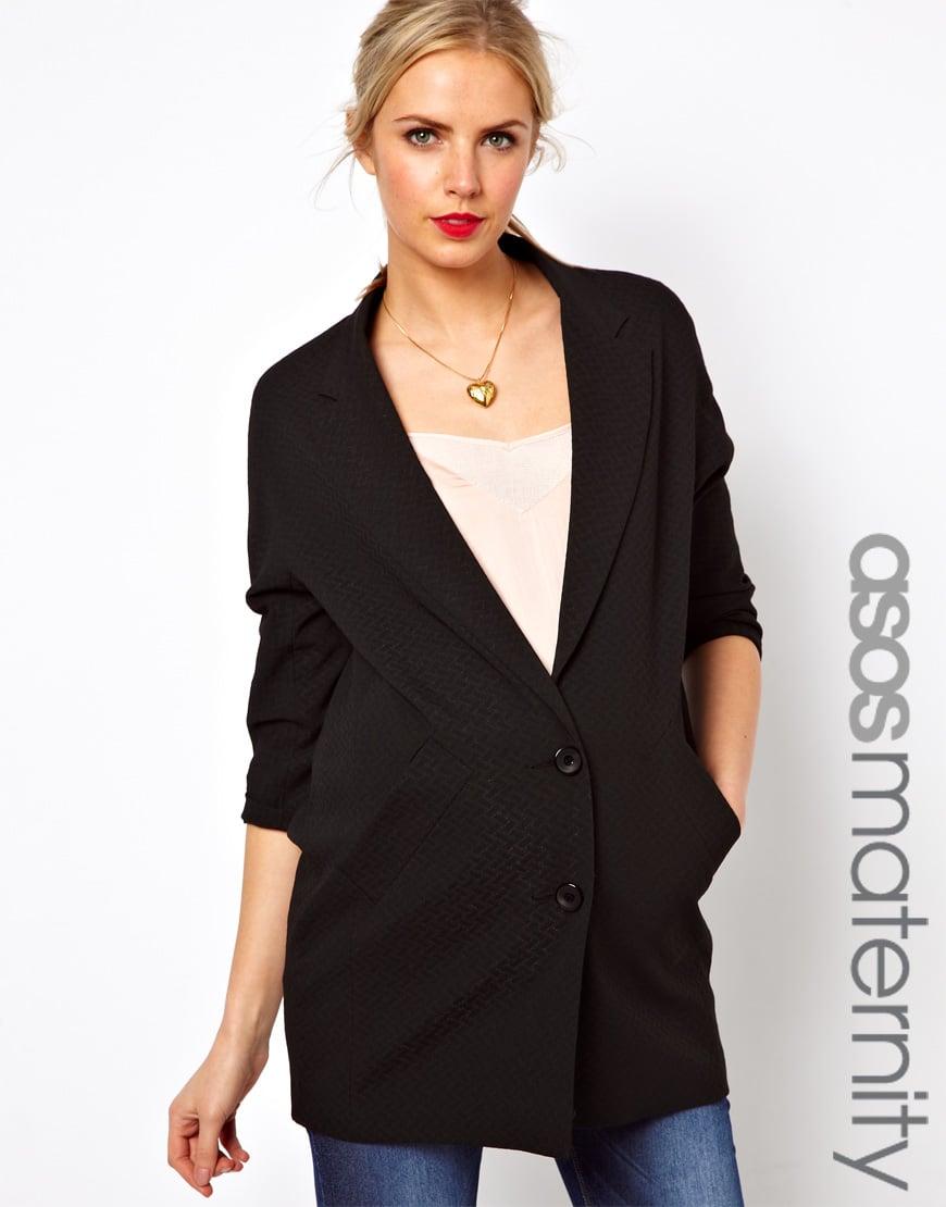 asos maternity oversized blazer in black lyst. Black Bedroom Furniture Sets. Home Design Ideas