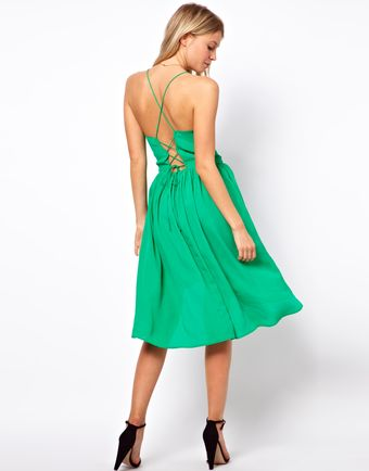 Asos Tie Back Crepe Sundress - Lyst
