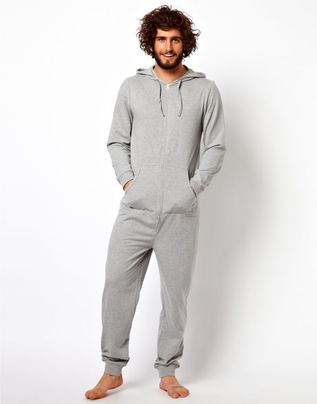 Asos Onesie In Gray For Men Grey Lyst