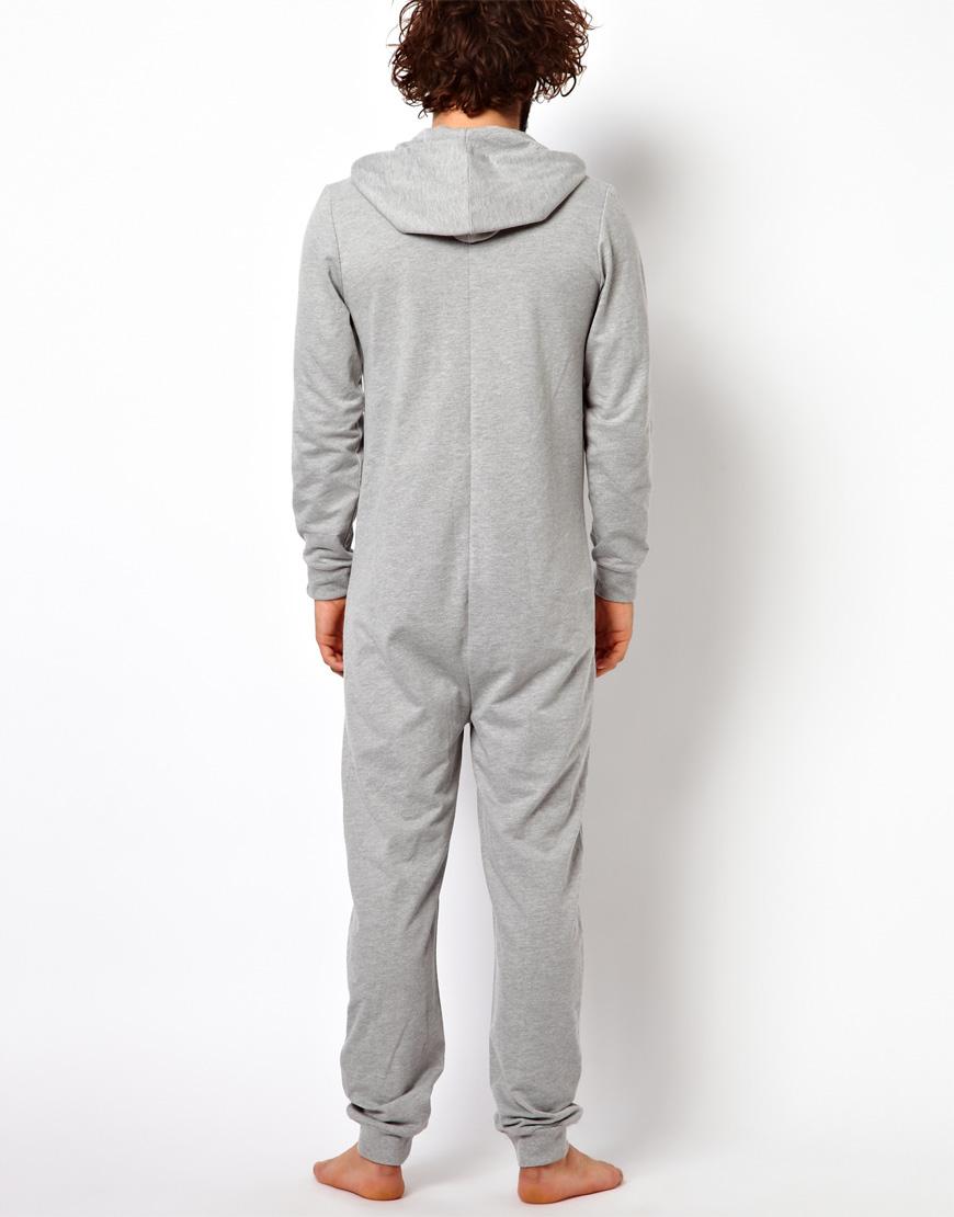 Lyst Asos Onesie In Gray For Men