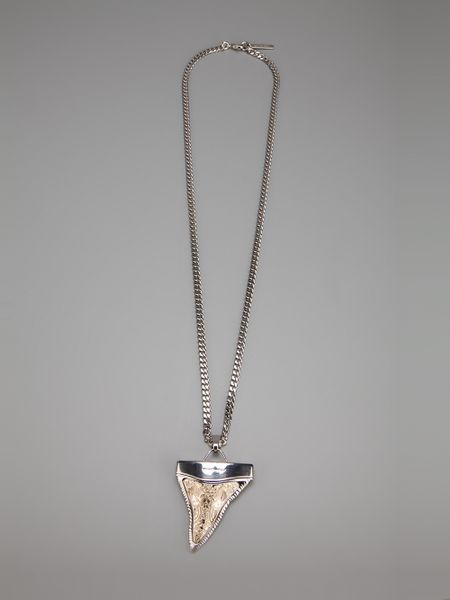 givenchy shark tooth necklace in silver lyst