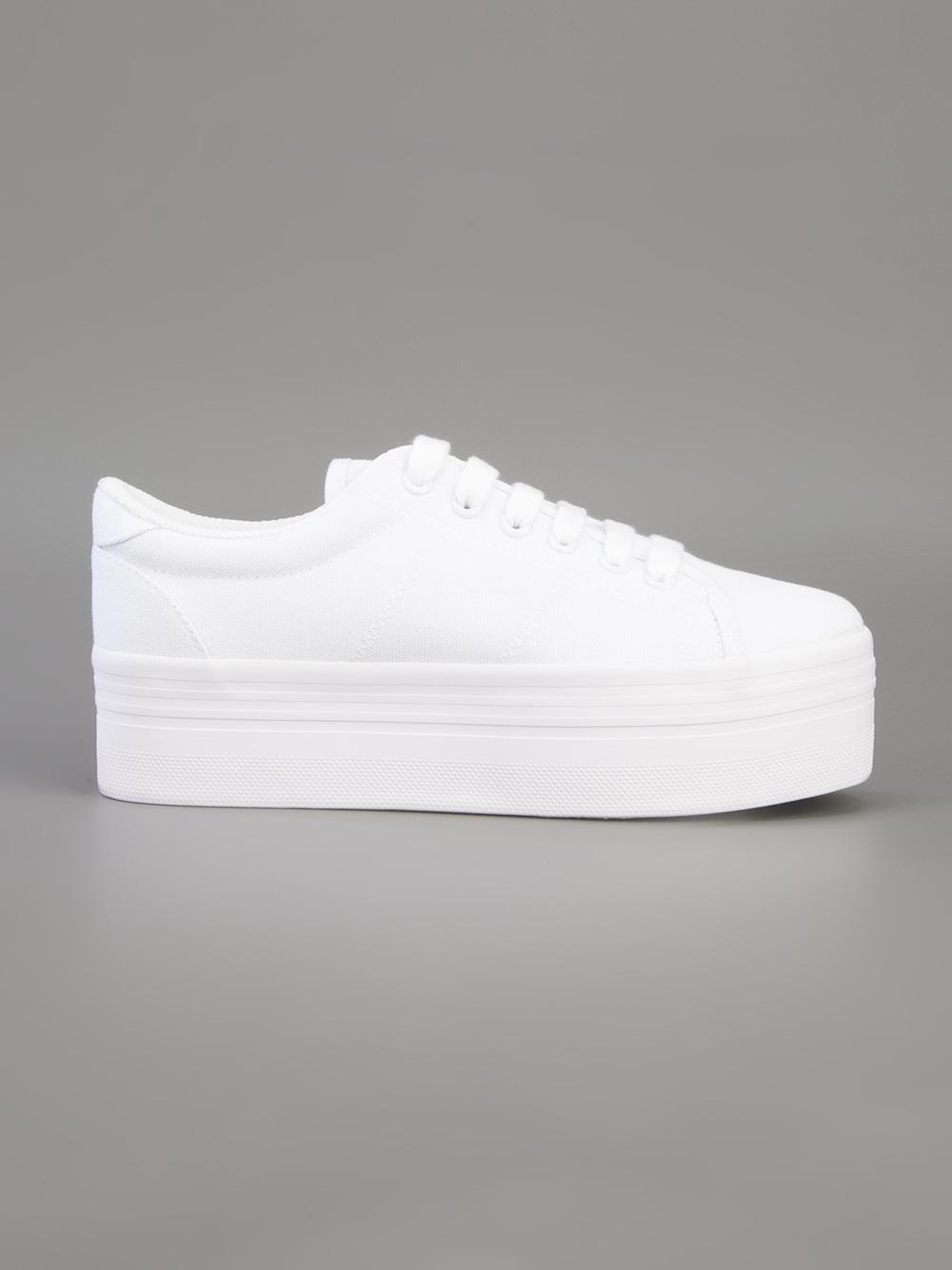 997f198c79d Jeffrey Campbell Homg Platform Sneaker in White - Lyst