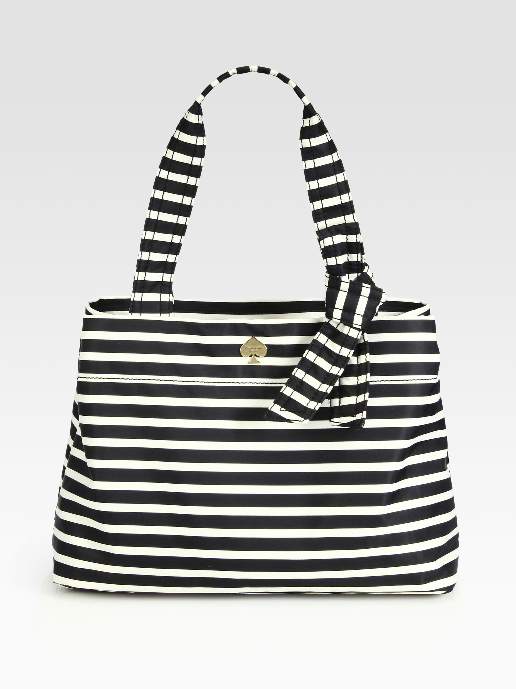Black And White Striped Kate Spade Bag