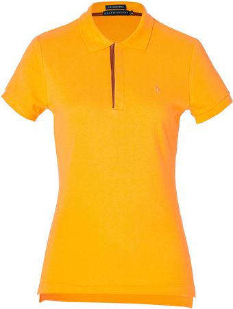 Ralph Lauren Cotton Skinny Fit Polo Shirt  - Lyst