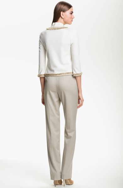 St John Collection Milano Knit Jacket In White White