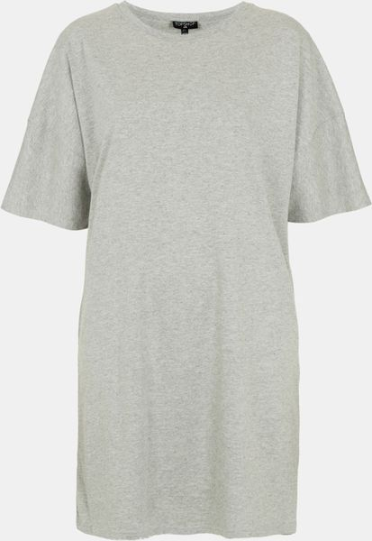 Topshop Cotton Tunic in Gray (grey)