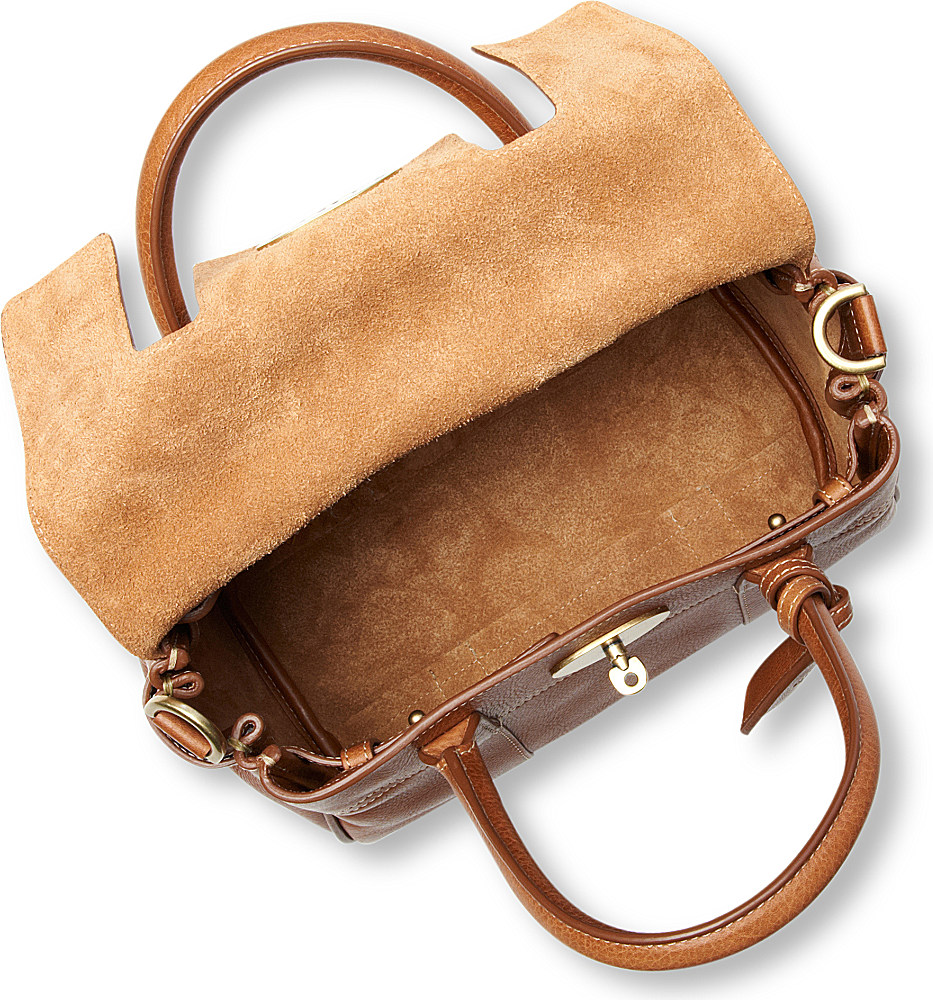 d010b9a10a ... france lyst mulberry bayswater natural leather small satchel in brown  e9641 05fc3