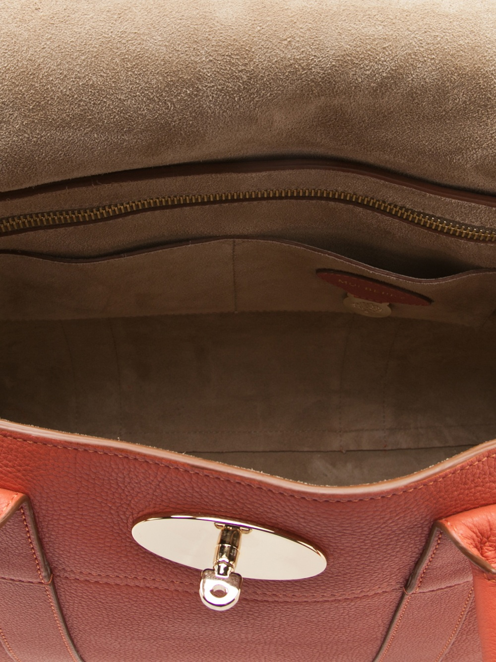 b05dfc012e ... aliexpress mulberry turn lock handbag in red lyst 07c2e 8697f