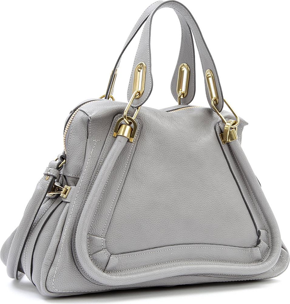 Chlo¨¦ Paraty Medium Shoulder Bag in Gray (cashmere grey) | Lyst