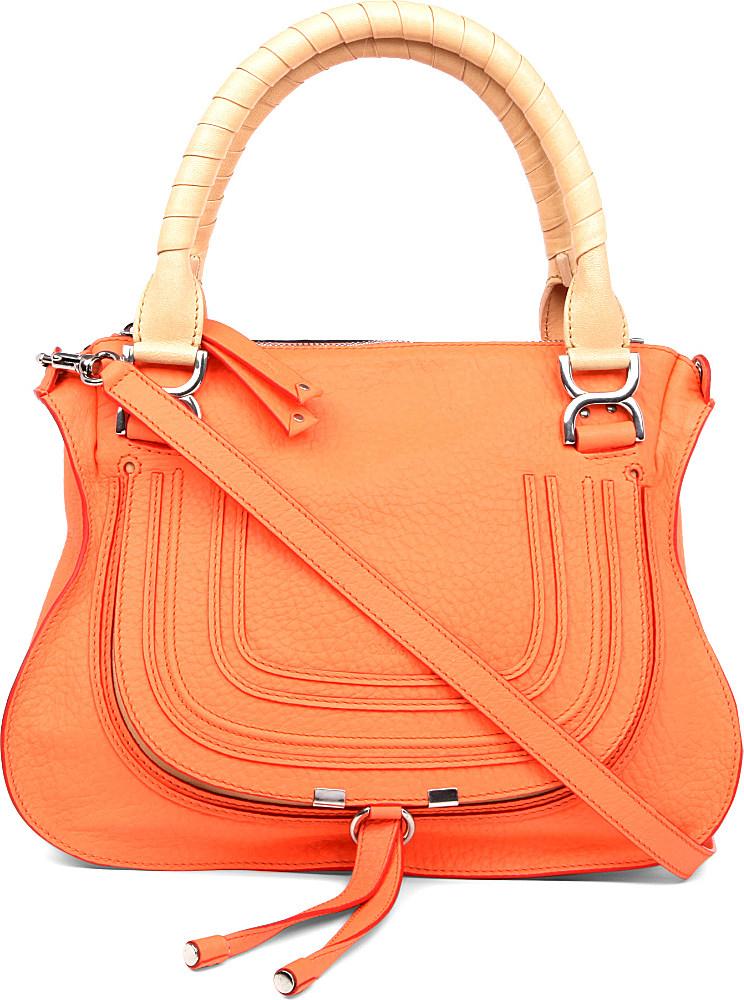 chlo marcie medium shoulder bag in orange lyst. Black Bedroom Furniture Sets. Home Design Ideas