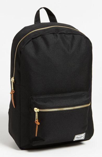 herschel supply co 39 settlement mid volume 39 backpack in orange black lyst. Black Bedroom Furniture Sets. Home Design Ideas