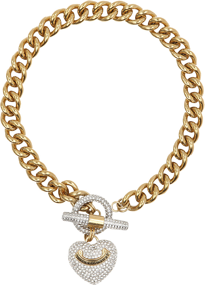 Lyst juicy couture heart toggle necklace in metallic gallery aloadofball Gallery