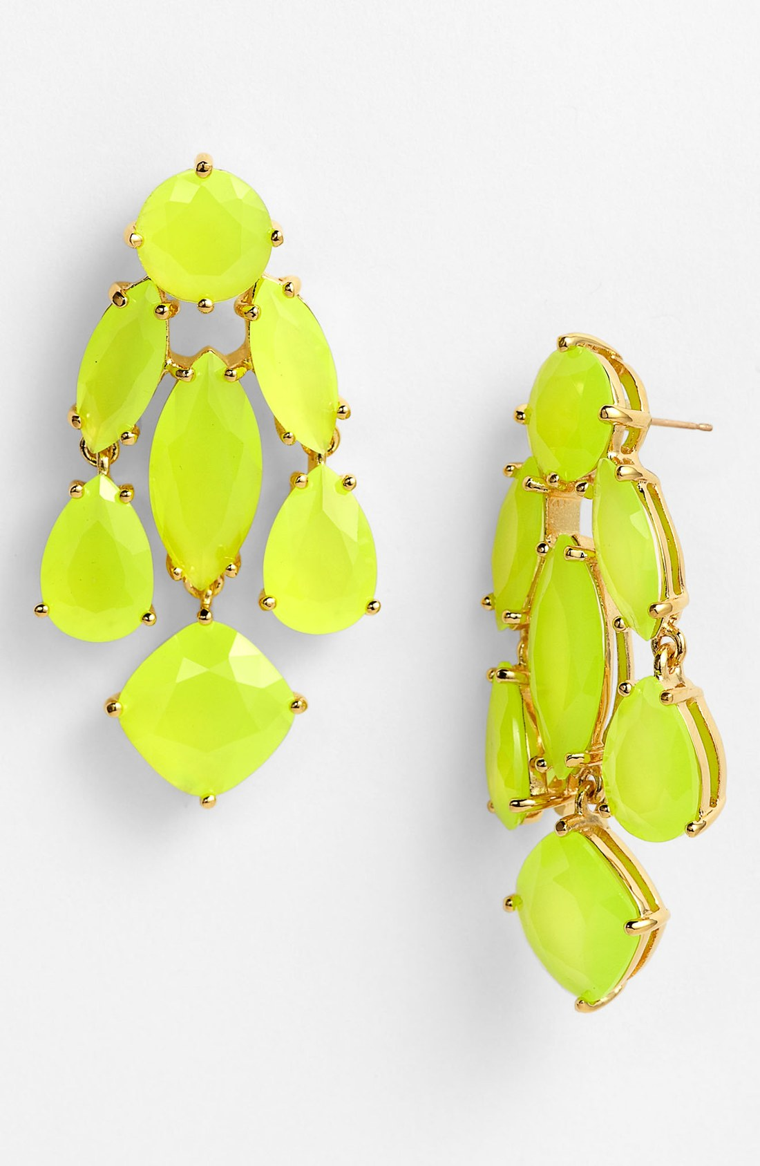 Kate spade chandelier earrings yellow beautify themselves with kate spade statement chandelier earrings in yellow fluorescent yellow arubaitofo Gallery