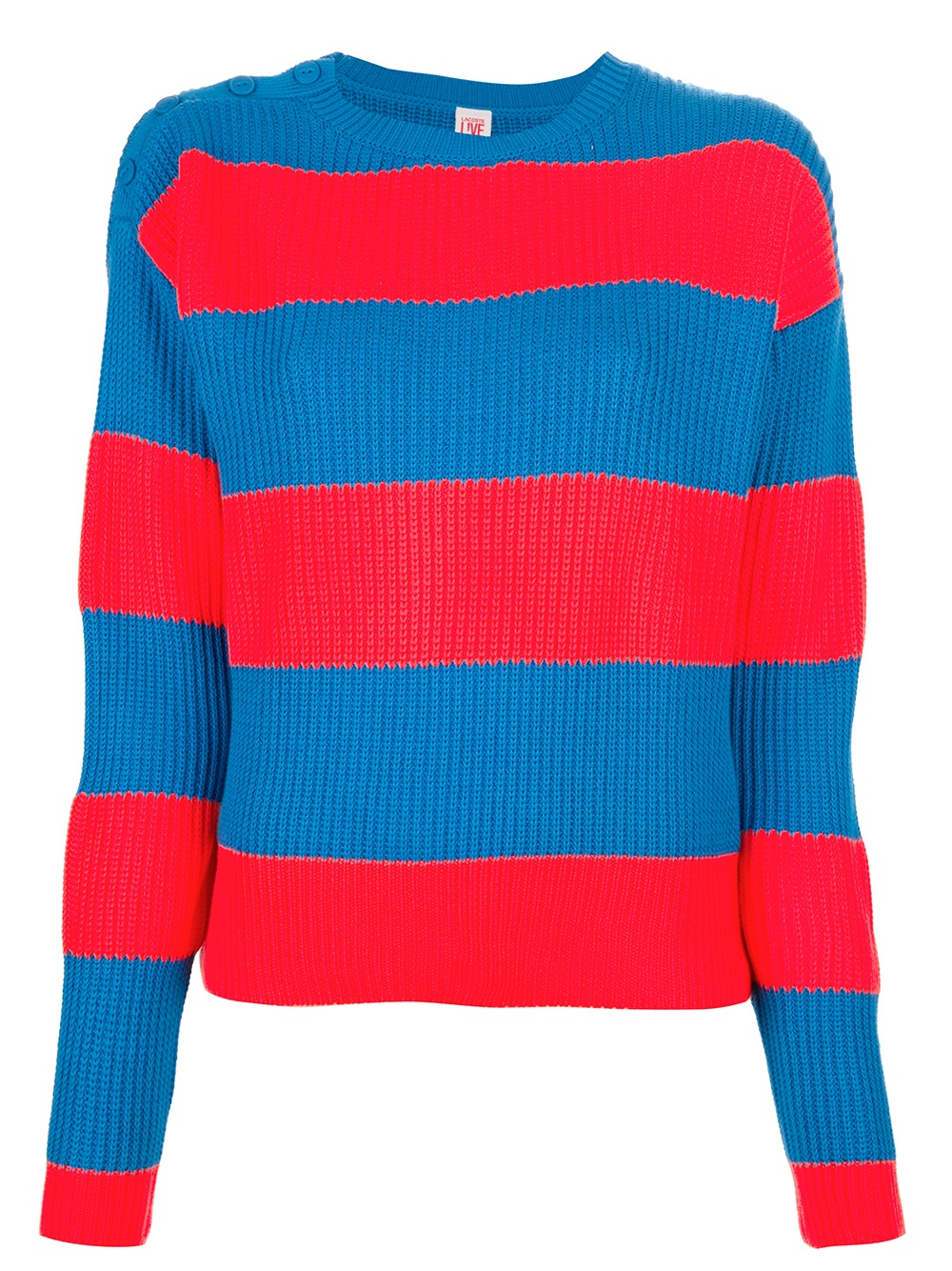 Blue Sweater With Red Stripes Coat Nj