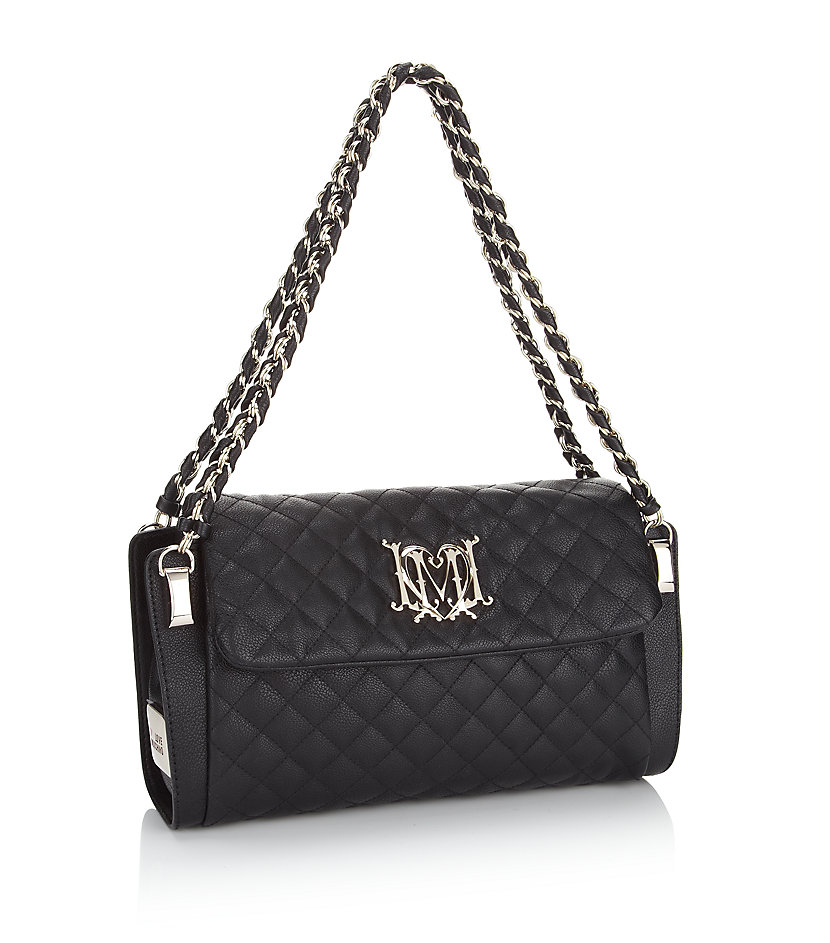 d54ee3e9b1c0 Love Moschino Medium Quilted Chain Bag in Black - Lyst