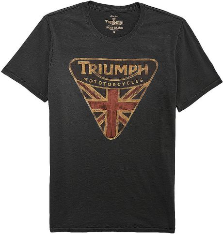 Lucky brand triumph badge tshirt in black for men lyst for Lucky brand triumph shirt