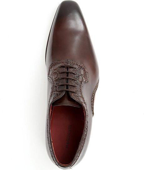 Brown Magnanni Men S Colo Lace Up Oxford Shoes