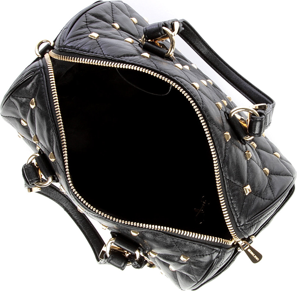 Michael Kors Grayson Studded Bowling Bag In Black Lyst