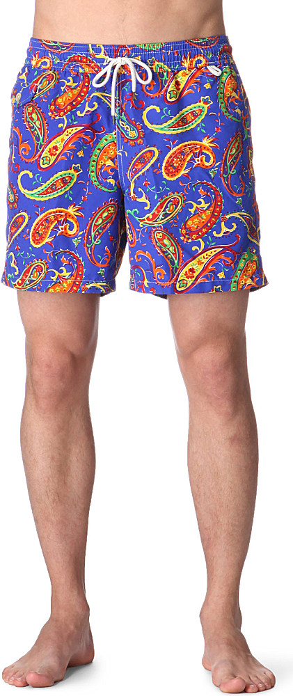 8a2ab9be96 ... promo code ralph lauren traveler paisley swim shorts for men lyst 85117  991d7