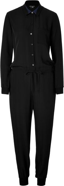 Theory Silk Darain Jumpsuit in Black - Lyst