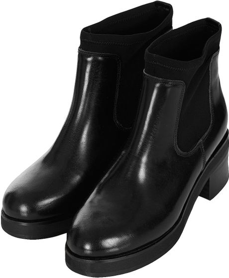 topshop neoprene ankle boots in black lyst