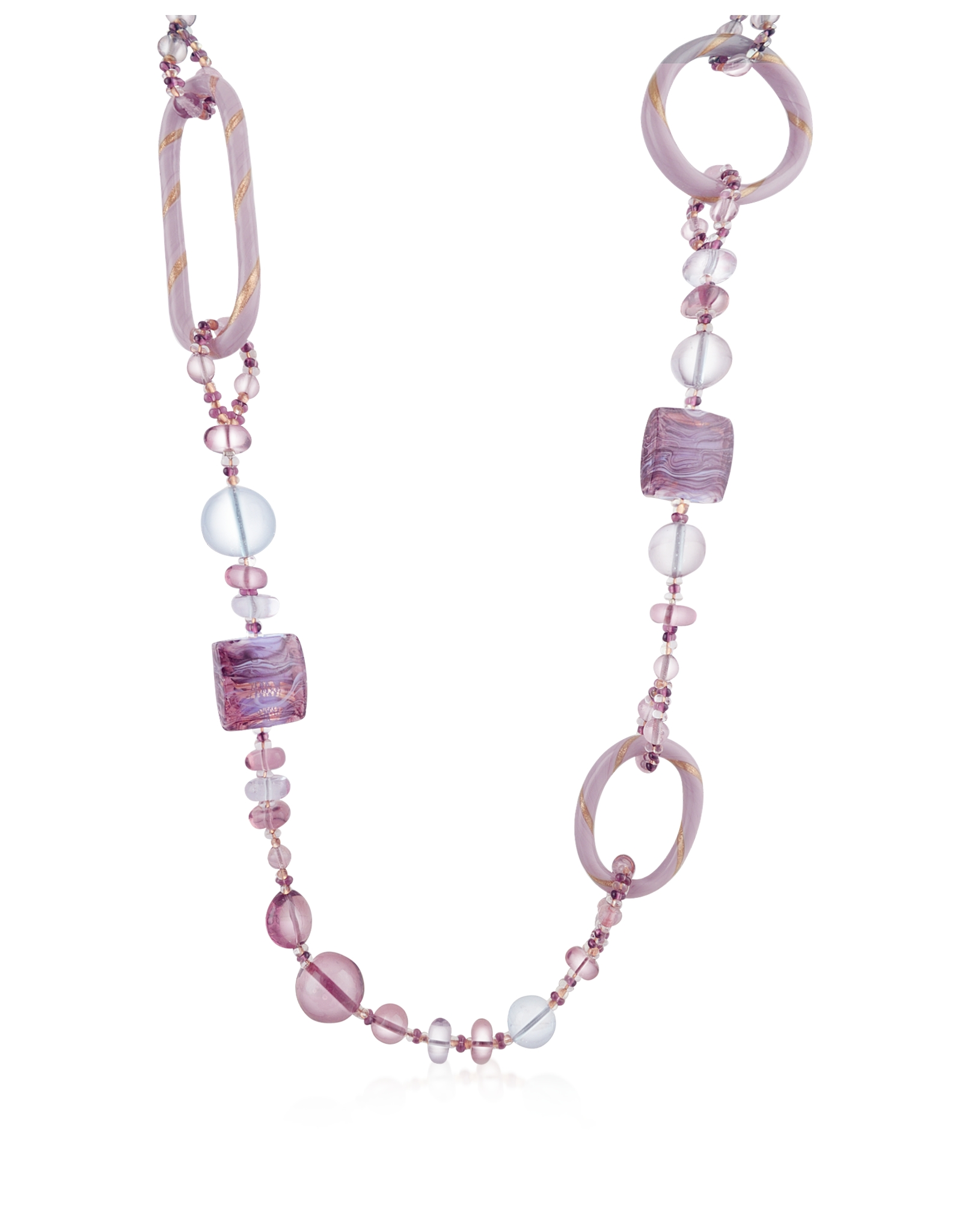 Lyst antica murrina bolero murano glass long necklace in pink gallery mozeypictures Choice Image