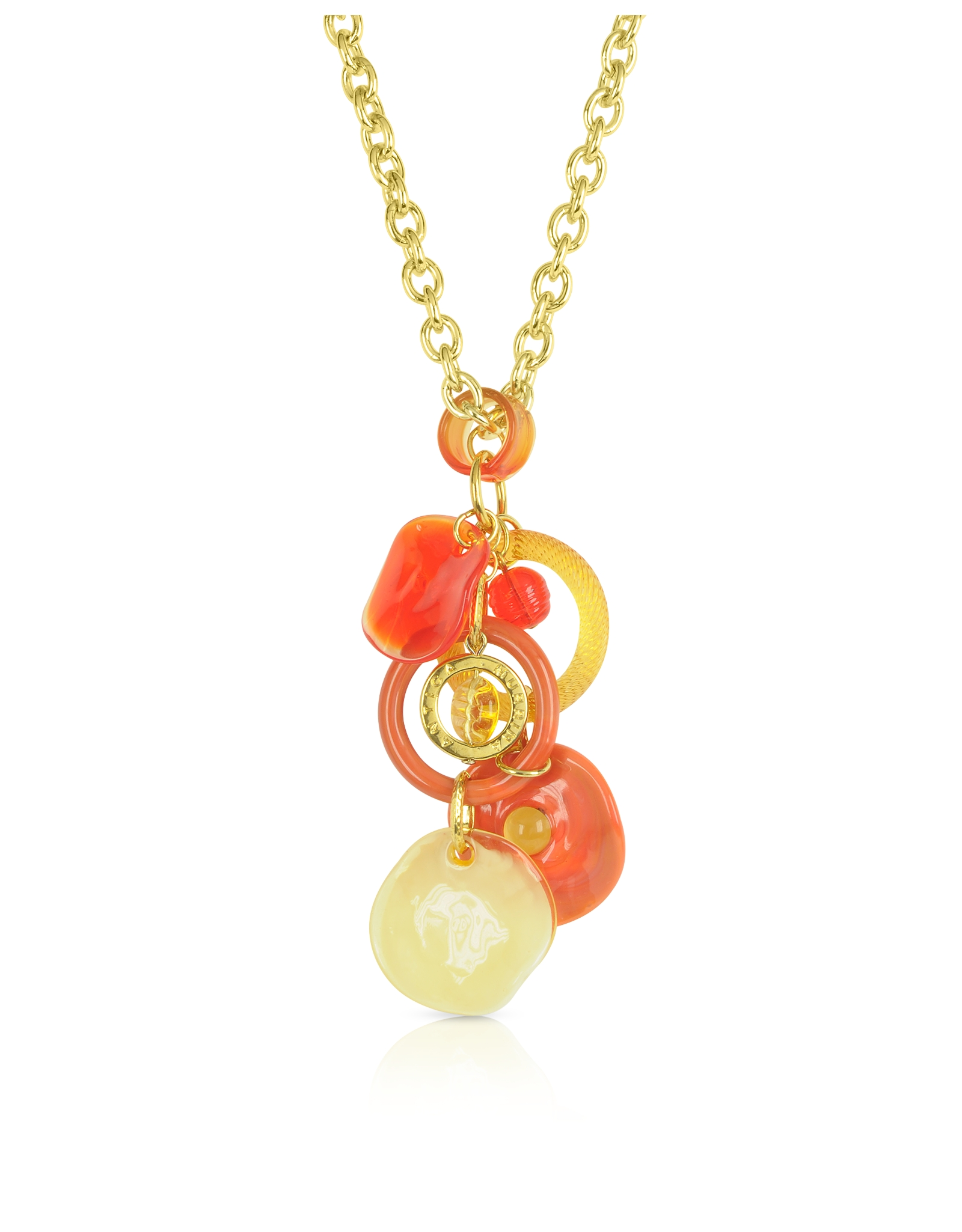 Lyst antica murrina shiva murano glass charm necklace in orange gallery mozeypictures Choice Image