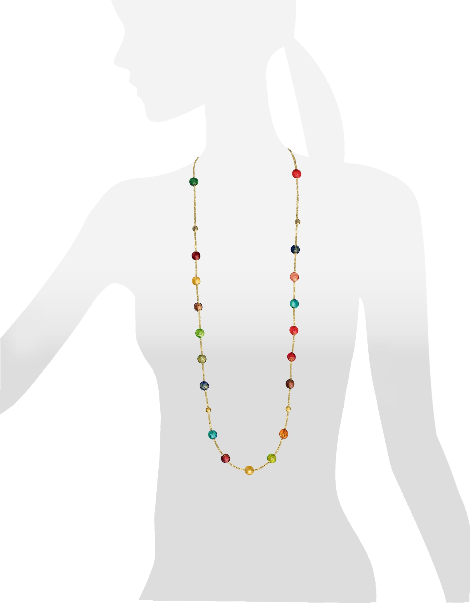 Lyst antica murrina frida murano glass long necklace in metallic gallery mozeypictures Choice Image